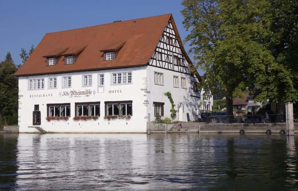 Außenansicht der Alten Rheinmühle